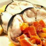 Congrio y patatas al vapor con tomate