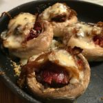 Tartaleta de champiñones gratinados