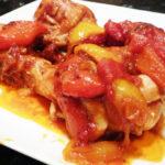 Pollo con pimientos