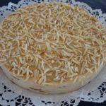 Pastel de galletas María y moka