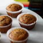 Muffins de merengue y chocolate fondant
