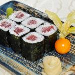 Sushi de shiitake y atún