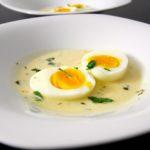 "Huevos a la  "" dijonnaise "" - salsa de mostaza -"