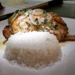Arroz basmati con pollo al curry
