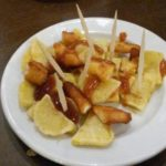 Patatas al horno con salsa barbacoa
