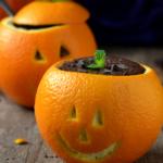 Mousse de chocolate y naranja para Halloween