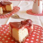 Cheesecake de chocolate blanco y fresa