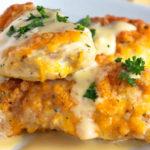 Pechugas de pollo a los cuatro quesos