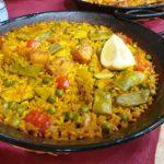 Arroz cremoso de pollo y verduras
