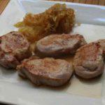 Cebolla frita con lomo de cerdo