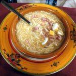 Sopa con tropezones