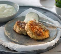Hamburguesa de pollo con puré de patata