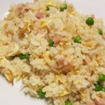 Panceta con cebolla y arroz