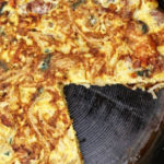 Pastel relleno de mozzarella
