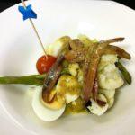 Ensalada de coliflor con anchoas y atún