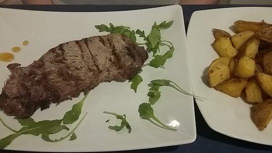 Biftec con patatas