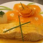 Salmón a la naranja con brócoli