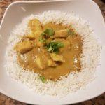 Pechuga de pollo al curry con mayonesa de jengibre