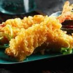 Langostinos en tempura con salsa agridulce